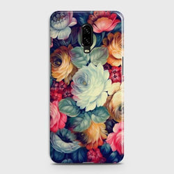 OnePlus 6T Vintage colorful Flowers Case