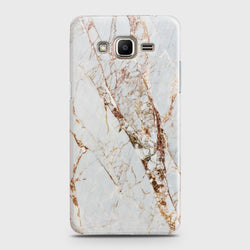 SAMSUNG GALAXY GRAND PRIME PLUS White & Gold Marble Case