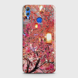 HUAWEI HONOR 8X Pink blossoms Lanterns Case