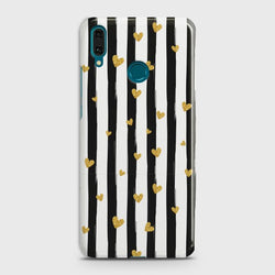 HUAWEI P SMART PLUS Glitter Heart Stripes Case