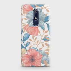 Nokia 5.1 Seamless Flower Case