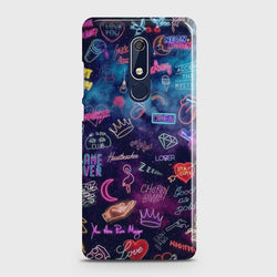 Nokia 5.1 Neon Galaxy Case