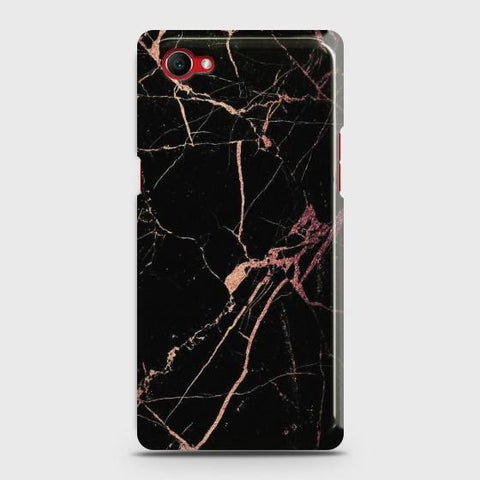 Oppo F7 YouthBlack Rose Gold Marble Case