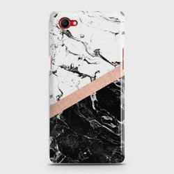 Oppo F7 Youth Black & White Marble With Chic RoseGold Case