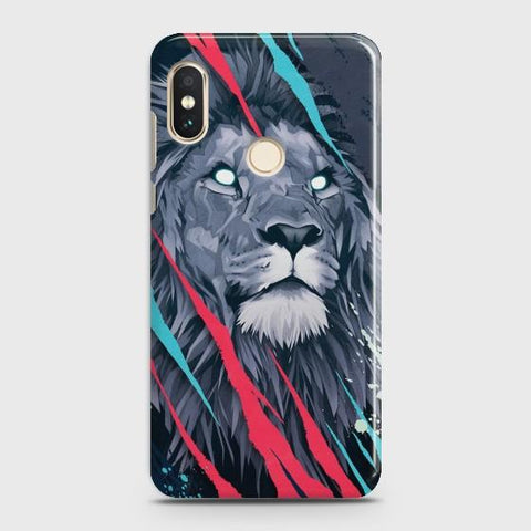 XIAOMI MI 8 Abstract Animated Lion Case