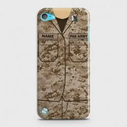 IPOD TOUCH 5 Army Costume WIth Custom Name Case