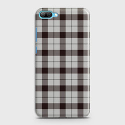 Huawei Honor 10 Check Pattern White Case