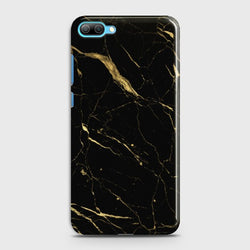 Huawei Honor 10 Classic Golden Black Marble Case
