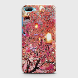 Huawei Honor 10 Pink blossoms Lanterns Case