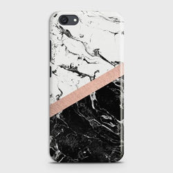 VIVO Y81I Black & White Marble With Chic RoseGold Case