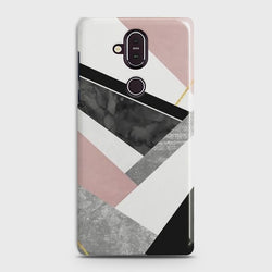 Nokia 8.1 Geometric Luxe Marble Case