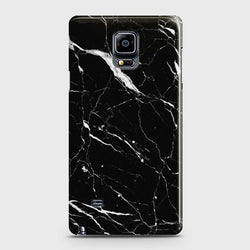 Samsung Galaxy Note Edge Trendy Black Marble design Case