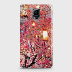 SAMSUNG GALAXY NOTE EDGE Pink blossoms Lanterns Case