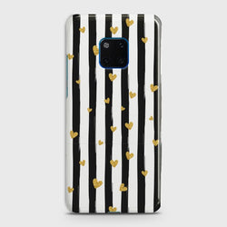 Huawei Mate 20 Pro Glitter Heart Stripes Case