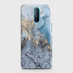 Oppo R17 Pro Golden Blue Marble Case