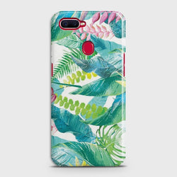 OPPO A7 Retro Palm Leaves Case