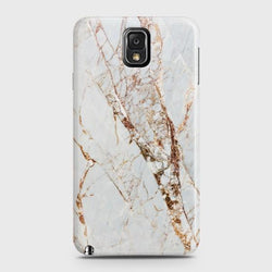 SAMSUNG GALAXY NOTE 3 White & Gold Marble Case