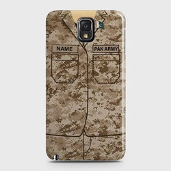 SAMSUNG GALAXY NOTE 3 Army Costume With Custom Name Case