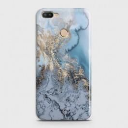 INFINIX HOT 6 PRO Golden Blue Marble Case