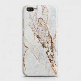 INFINIX HOT 6 PRO White & Gold Marble Case