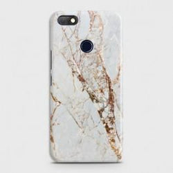 INFINIX NOTE 5 (X604) White & Gold Marble Case