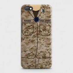 INFINIX NOTE 5 (X604) Army Costume WIth Custom Name Case