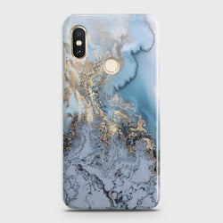 XIAOMI MI A2 / MI 6X Golden Blue Marble Case