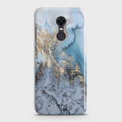REDMI 5 PLUS Golden Blue Marble Case