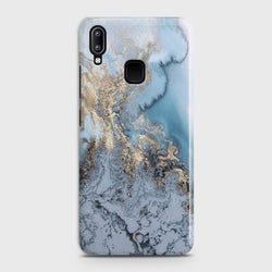 VIVO Y91 Golden Blue Marble Case