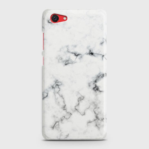 Vivo Y71 White Liquid Marble Case