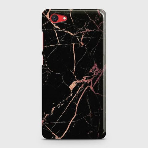 VIVO Y71 Black Rose Gold Marble Case
