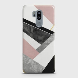 LG G7 THINQ Geometric Luxe Marble Case