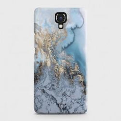 INFINIX NOTE 4 (X572) Golden Blue Marble Case