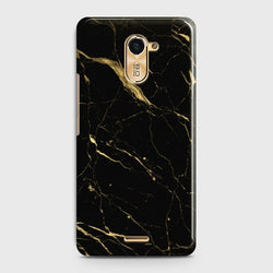 INFINIX HOT 4 (X557) Classic Golden Black Marble Case