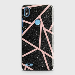 INFINIX SMART 2 (X5515) Black Sparkle Glitter With RoseGold Lines Case