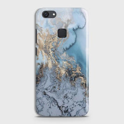 VIVO Y81 Golden Blue Marble Case