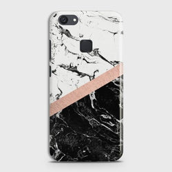 VIVO Y81 Black & White Marble With Chic RoseGold Case