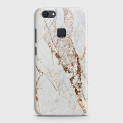 VIVO Y81 White & Gold Marble Case