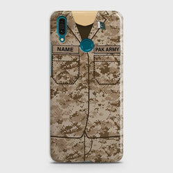 Huawei Y7 2019 Army Costume With Custom Name Case