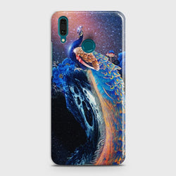 Huawei Y7 2019 Peacock Diamond Embroidery Case