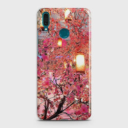 Huawei Y7 2019 Pink blossoms Lanterns Case