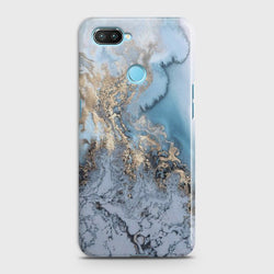 XIAOMI MI 8 LITE Golden Blue Marble Case