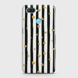 XIAOMI MI 8 LITE Glitter Heart Stripes Case