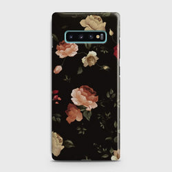 Samsung Galaxy S10 Happy Everyday design CaseDark Rose Vintage Flowers