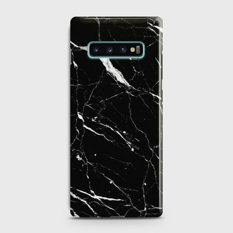 Samsung Galaxy S10 Trendy Black Marble design Case