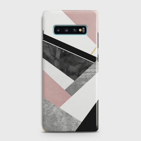 Samsung Galaxy S10 Plus Geometric Luxe Marble Case
