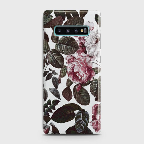 SAMSUNG GALAXY S10E Shadow Blossom Vintage Flowers Case
