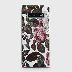 SAMSUNG GALAXY S10 plus Shadow Blossom Vintage Flowers Case