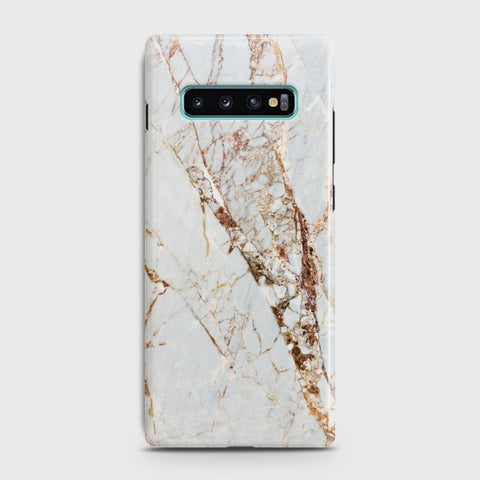 SAMSUNG GALAXY S10E White & Gold Marble Case