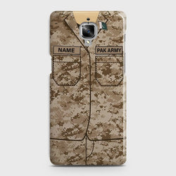 OnePlus 3/3T Army shirt with Custom Name Case